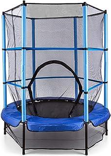 comprar comparacion Klarfit Rocketkid Blue Edition - Cama eslástica, Cama elástica Infantil, A Partir de 3 años, 140 cm, Red de Seguridad, Sus...