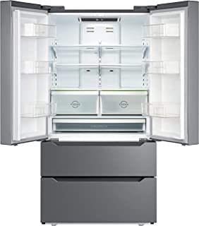 SMETA 36 Inch 22.5 Cu.Ft Counter Depth French Door Refrigerator Bottom Freezer with Auto Ice Maker for Home Kitchen, Stain...