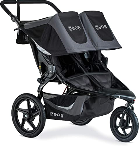BOB Gear Revolution Flex 3.0 Duallie Double Jogging Stroller | Smooth Ride Suspension + Easy Fold + Adjustable Handle...