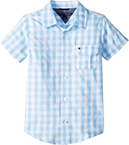 Short Sleeve Ryan Yarn-Dye Plaid Shirt (Big Kids)