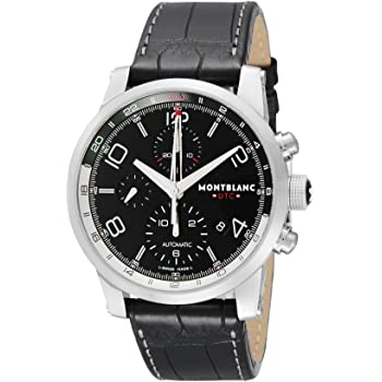 [モンブラン] 腕時計 TIME WALKER UTC ブラック文字盤 自動巻き 107336 メンズ 並行輸入品 ブラック