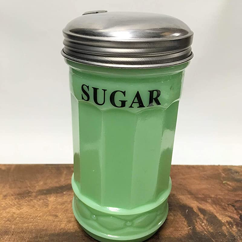 Jadeite Glass SUGAR Pourer With Spout Retro Vintage Style Kitchen