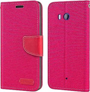 حافظة HTC U11، حافظة محفظة جلدية أكسفورد مع غطاء خلفي ناعم TPU حافظة فليب مغناطيسي لهاتف HTC U11