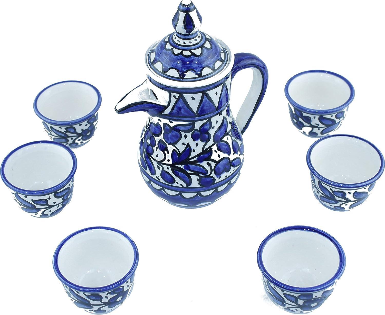 Ceramic Coffee Set - Blue Flower 8.7 each Topics on TV Inch design Pot 1.6 Ranking TOP13