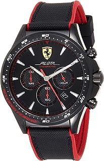 Ferrari Unisex-Adult Quartz Watch, Analog Display and Nylon Strap 830623