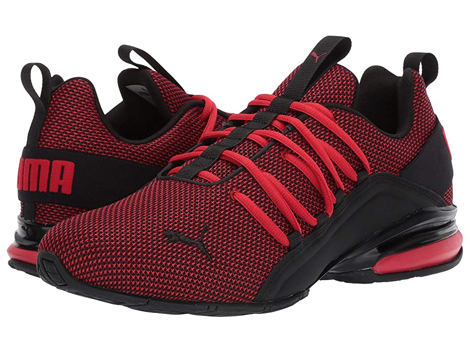 2c3d9f3e37656 PUMA Axelion Mesh (High Risk Red/Puma Black) Men's Shoes