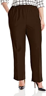 Alfred Dunner Women`s Plus-Size Poly Proportioned Medium Pant