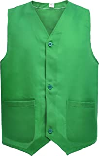 TOPTIE Button Vest Twill Volunteer Activity Vest, Waistcoat for Children