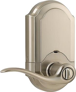 Kwikset SmartCode cerradura electrónica con Tustin Palanca SmartKey, 1, Níquel Satinado