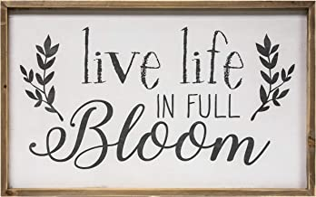 CWI Gifts Live Life in Full Bloom Framed Wall Sign, Multi