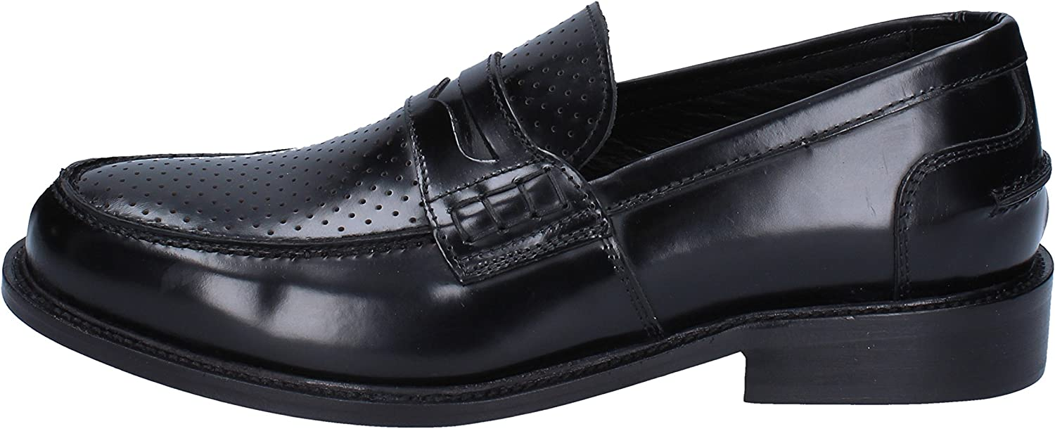 THOMAS VALMAIN Loafers-shoes Mens Leather Black