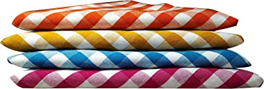 Vinayaka Cotton Towels (Set Of 4, Multicolour)