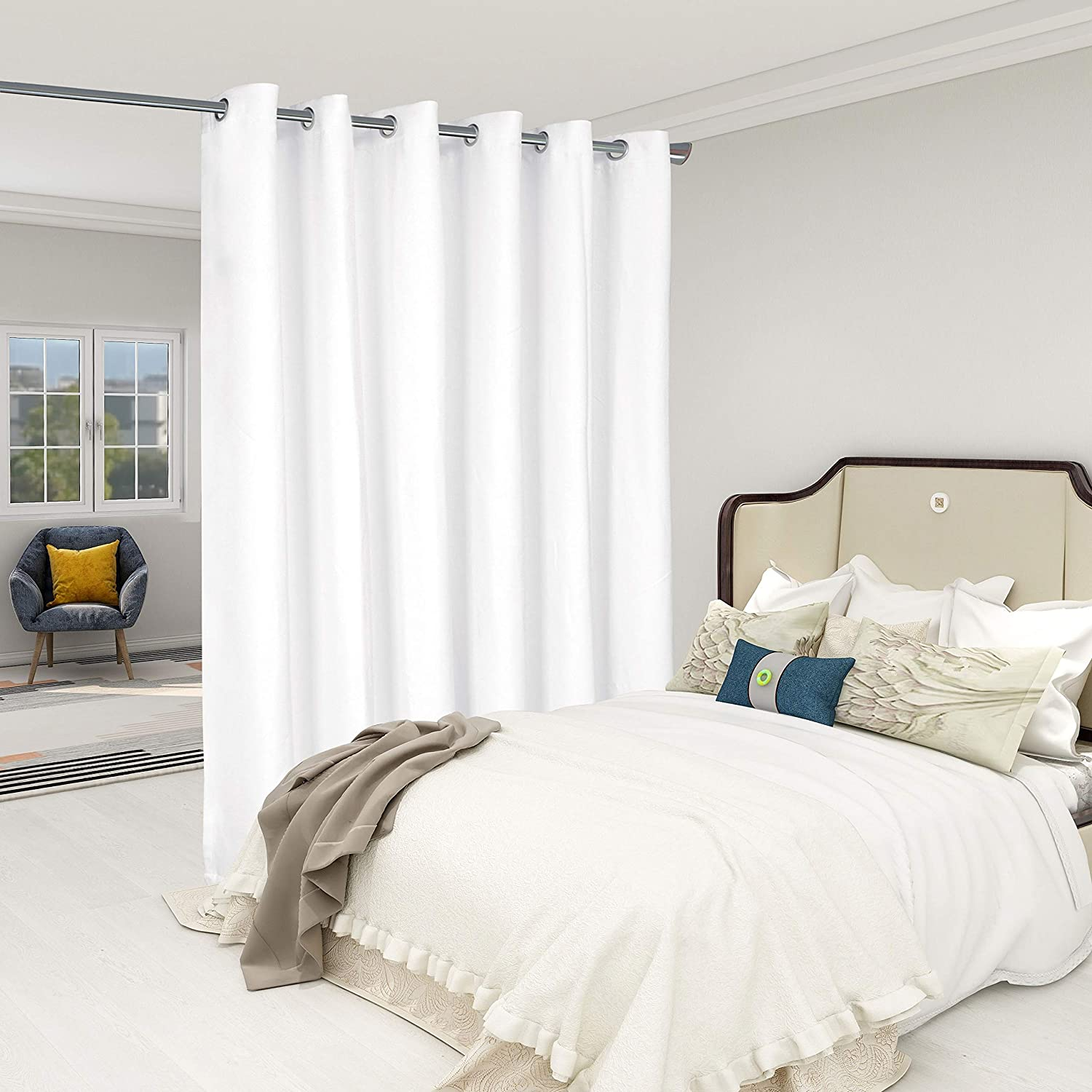 Cash special price LORDTEX Burlap Max 66% OFF Linen Look Textured - Room Divider Priva Curtains