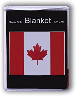 Canadian Flag Fleece Blanket *NEW* Canada Flag Throw Cover 5 ft x 4.2 ft or 50