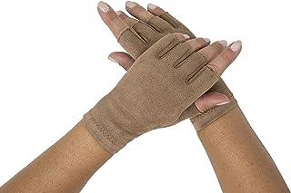 Sebeto Un paio di Guanti Moda Donna Eleganti Invernali e Caldi in EcoSuede senza dita Taglia Unica beige ecrù Made in Ital...