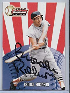 2000 Kraft Foods Brooks Robinson Team Nabisco Autograph Card Baltimore Orioles