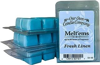 Our Own Candle Company Premium Wax Melt, Fresh Linen, 6 Cubes, 2.4 oz (4 Pack)