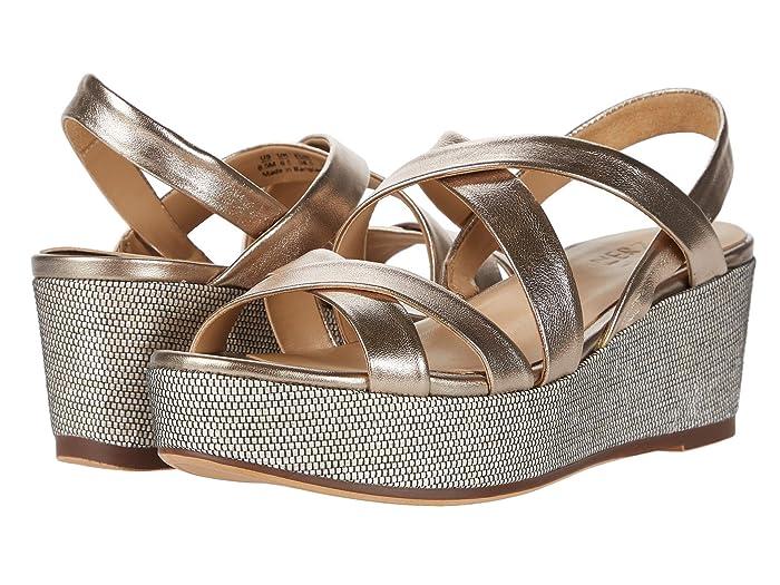 Naturalizer  Unique (Light Bronze Metallic Leather) Womens Shoes