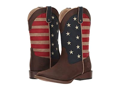 Roper Kids American Patriot (Toddler/Little Kid) (Faux Leather Vamp Stars & Stripes Shaft) Cowboy Boots