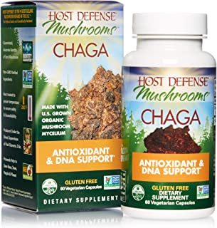 Sponsored Ad - Host Defense, Chaga Capsules, Antioxidant and DNA Support, Daily Mushroom Supplement, Vegan, Organic, 60 Ca...