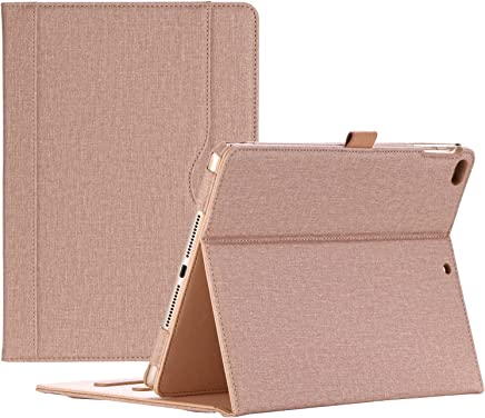 ProCase iPad 9.7 2018 / 2017 Case - Stand Folio Cover Case for Apple iPad 9.7 inch, Also Fit iPad Air 2 / iPad Air, with Multiple Viewing Angles, Document Card Pocket -Khaki