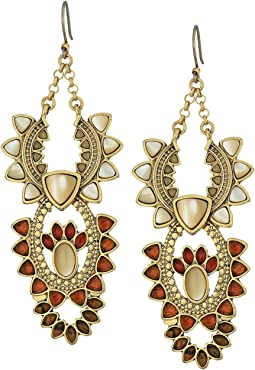 Lucky Brand Stone Statement Earrings