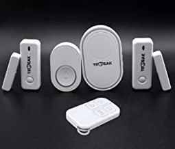 120dB para Proteger su Hogar y Oficina WiFi//gsm Sistema de Seguridad,TecPeak A1 Kit de Seguridad y Alarma Hogar con Sirena Incorporada