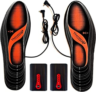 Thermrup Electric Heated Insole Foot Warmers Rechargeable Battery(4 Temperature Settings) Size 5-14, High Temperature