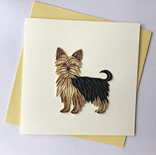 Dog Quilling Greeting Card, 6x6