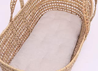 Wool Moses Basket Mattress only/Custom Sizes, Shapes & Fabrics Available