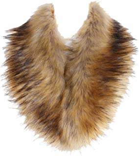 SoulYoung Faux Fur Collar Women's Neck Warmer Scarf Wrap