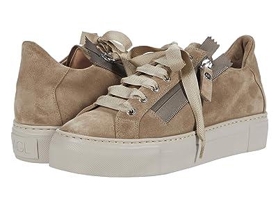 AGL Side Zip Sneaker (Taupe) Women