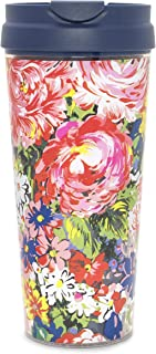 Ban.do Floral Hot Stuff Insulated Thermal Travel Mug, 16 Ounces, Flower Shop