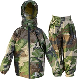 DRY KIDS - Jacket and Trouser Set 13-14 Yrs Camo Green
