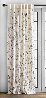 Maison d' Hermine Neo Ipomee 100% Cotton Curtain One Panel for Living Rooms Bedrooms..
