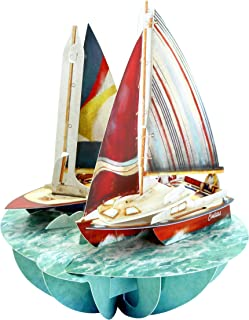 Santoro Pirouettes Sailing 3D Pop Up Card, Multicolor