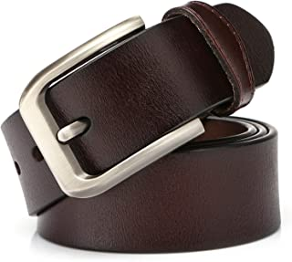 KEECOW Mens Leather Belt 38mm Wide,Genuine Leather Belt for Men,Great for Suits/Jeans/Casual and Formal Wear,Suits Up To 4...