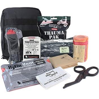 MediTac Premium IFAK Kit - Feat. Trauma Pak, CAT Tourniquet, HyFin Vent Chest Seal, Israeli Bandage