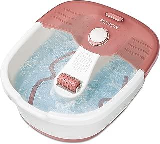 Revlon RVFB7021PUK Relaxing Bubbling Massage Pediprep Foot Spa with 9 Pieces Nail Care Set by Revlon