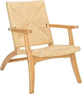 Safavieh ACH9502A Home Collection Bronn Natural Accent Chair,
