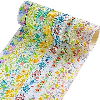 Lot de 8 rouleaux de ruban adhésif décoratif Washi pour bullet journal, fournitures de scrapbooking, arts créatifs, 15 mm ...