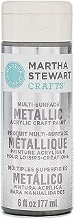Martha Stewart Crafts 33584 Martha Stewart Multi-Surface Metallic Sterling, 6 oz Paint