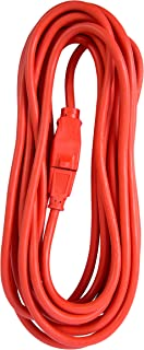 Bergen Industries Inc OC25143 Heavy-Duty Outdoor Single Receptacle Extension Cord, 25 ft, 14 AWG, 15A/125V AC , Orange