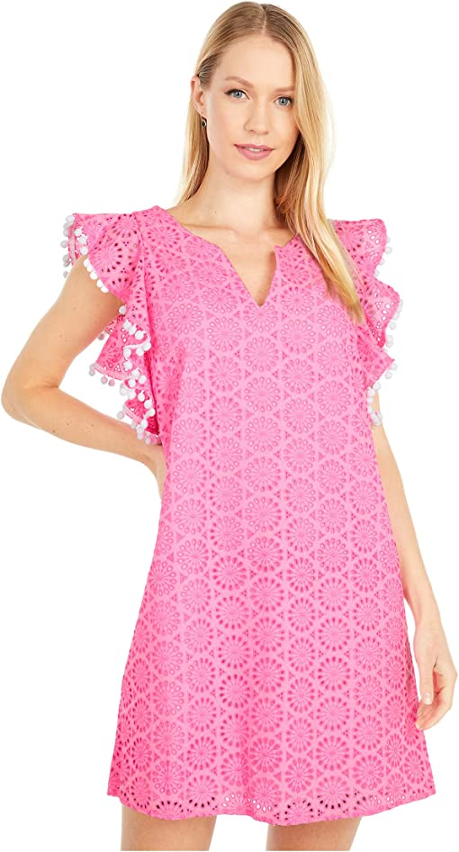 Prosecco Pink Neon Geo Eyelet
