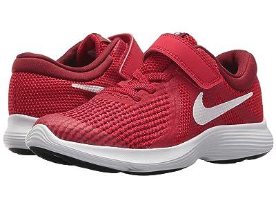 Nike Kids Revolution 4 (Little Kid) (Gym Red/White/Team Red/Black) Boys Shoes