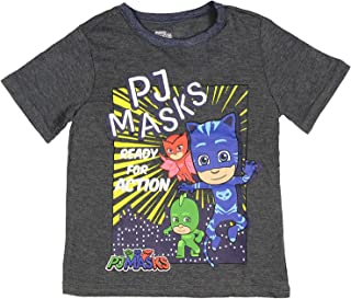 PJ Masks Little Boys' Toddler Ready For Action Character T-Shirt
