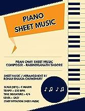 Pran Chay Staff Notation Sheet Music: Rabindranath Tagore Songs On Piano Staff Notation Sheet Music