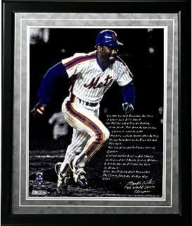MLB New York Mets Framed 16x20 Mookie Wilson Facsimile '86 Buckner Game' Story Photo