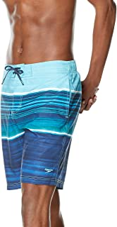 Speedo Men's Swim Trunk Knee Length Boardshort Bondi Striped