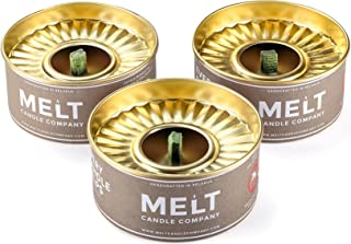 Melt Candle Company Set of 3 Outdoor Citronella Candles with Mosquito Repellent Deet-Free Emergency Candles with Large Flame
